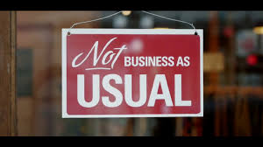 Not Business as Usual